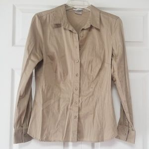 EUC VanHeusen Studio Fitted Stretct Buttom Blouse